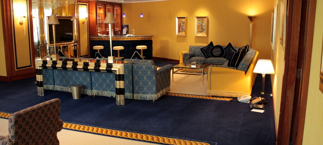 Presidential suite do burj al arab em dubai embarque for Burj al arab presidential suite