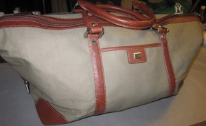 Canvas and leather duffel - purchased on Ebay for $26