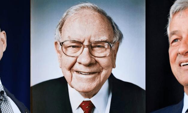 Jeff Bezos, Warren Buffett, & Jamie Dimon