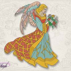 Vintage Angels Embroidery Designs Pack Collection of 7 Embrostitch