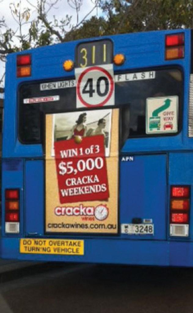 cracka wines cracka weekend graphic design emma wright bus advertising em designs parramatta