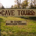 Welcoming sign at Smallin Civil War Cave