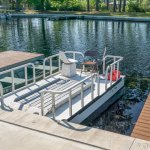 Okefenokee Adventure's accessible pontoon boat. A canopy is attached when under way