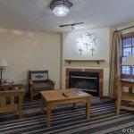 Living room in room 102