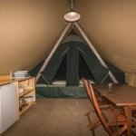Inside Huttopia tent 150