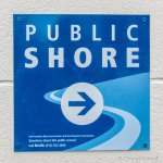 Photo of Pubic Shore Pathway sign