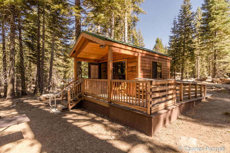 Cabin 14 at Manzanita Lake Campground in Lassen Volcanic National Park