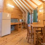 Kitchen area in Yurt 16