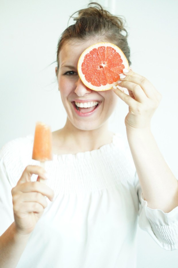 Grapefruit Ginger Mint Popsicles