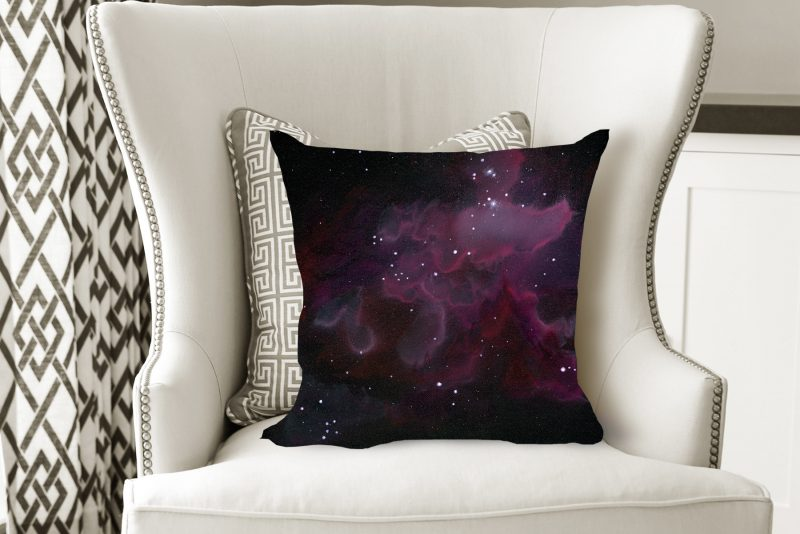 space pillow, galaxy pillow, nebula pillow