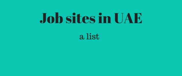 Job sites in UAE