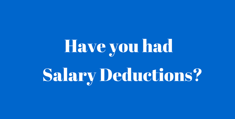 Salary Deductions uae labour law