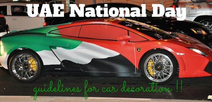 UAE National Day: Vehicle Decoration Guidelines