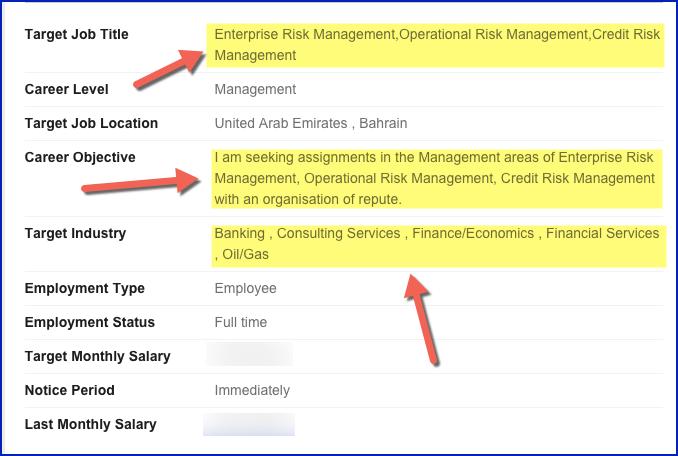 bayt job search profile