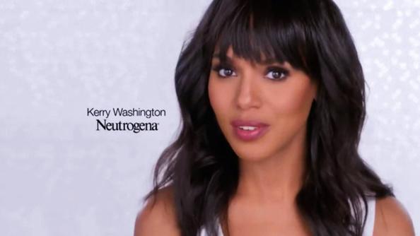 Kerry Washington as the face of Neutrogena
