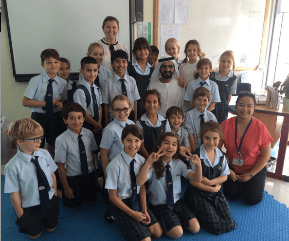Sheikh Mohammed visits his daughter at school
