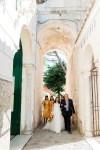 walk to ravello wedding ceremony