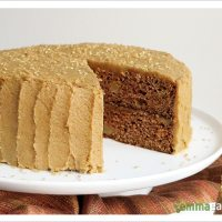 Winter is Coming -- Apple Spice Layer Cake with Brown Sugar Cinnamon Frosting [Dairy-Free]
