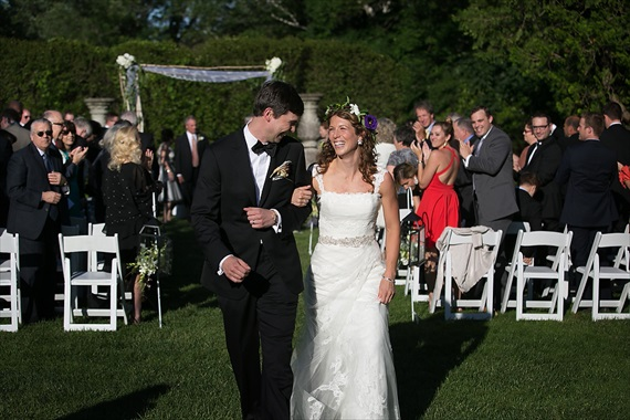 Dennis Drenner Photographs - baltimore museum wedding - bride and groom up the aisle