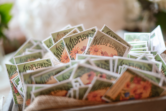 wildflower seed packets | photo: Photos by Kristopher | via http://emmalinebride.com