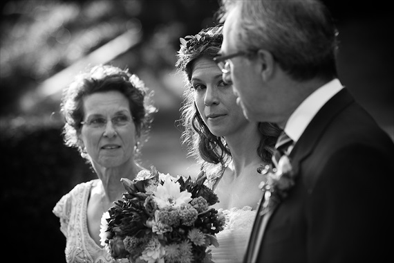 Dennis Drenner Photographs - baltimore museum wedding - bride walks down the aisle