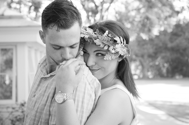 Santa Fe Springs Engagement Session, he kisses her hand