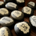 stone place cards
