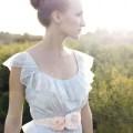 pink rosette dress sash for brides weddings