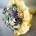 diy brooch bouquet completed