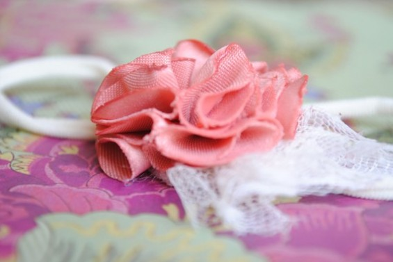 flower headband with tulle