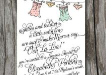 lingerie bridal shower invite