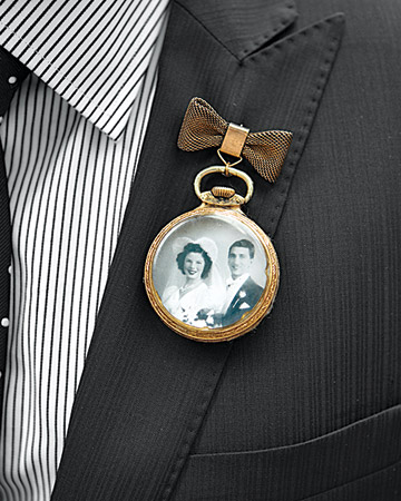 pocket watch boutonniere