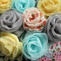 handmade bridesmaid hair flowers