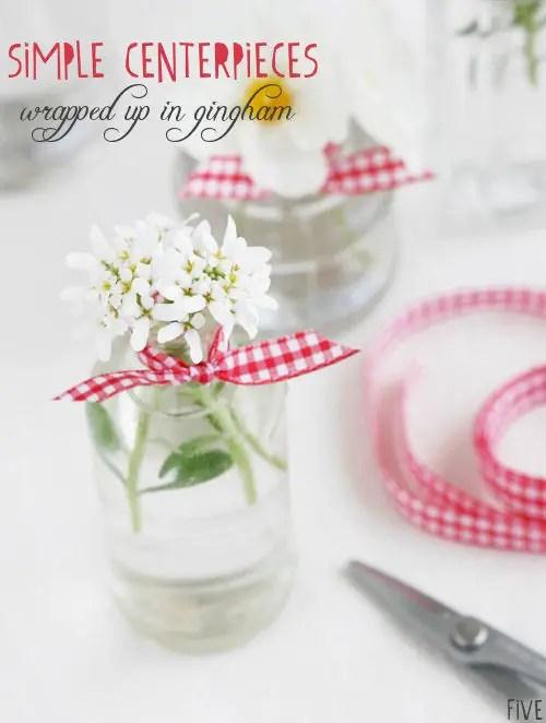 picnic wedding centerpieces