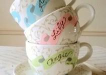 teacups for bridesmaids