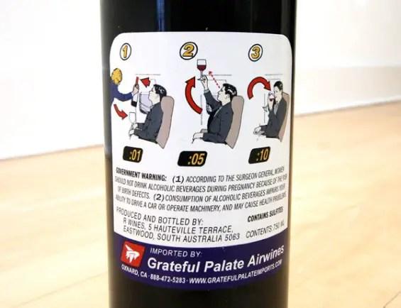 boarding pass wine label