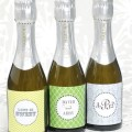 mini champagne bottle labels