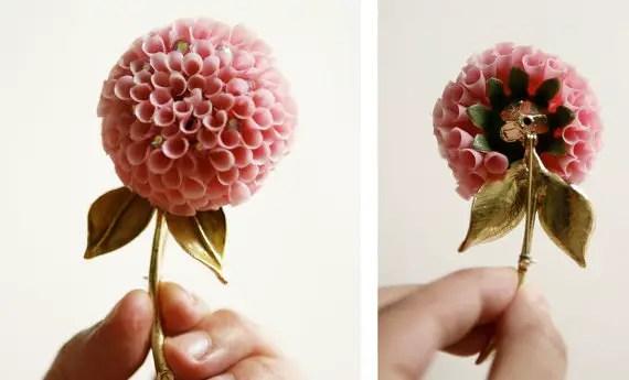 vintage flower brooch - 2