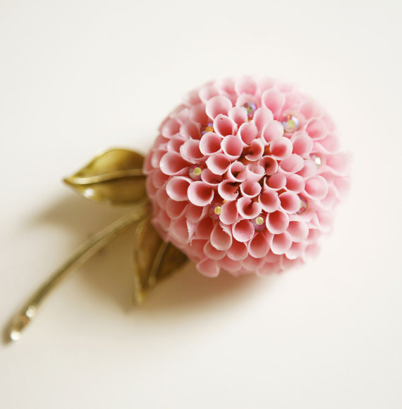 vintage flower brooch - 3