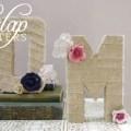 rustic burlap letters