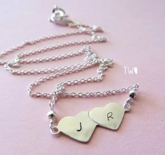 bridesmaid initial necklaces