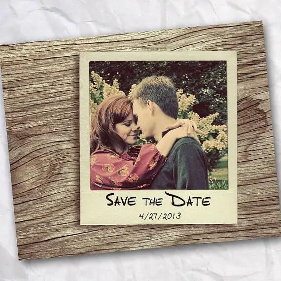 polaroid wedding ideas - polaroid save the date