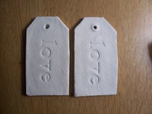 clay favor tags