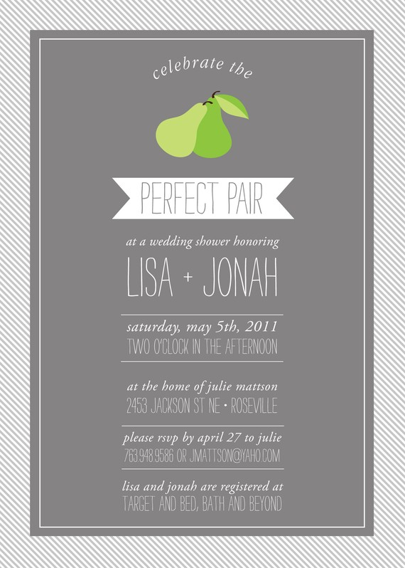 perfect pair wedding theme