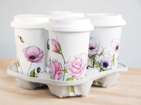 bridesmaid travel mug - handmade wedding