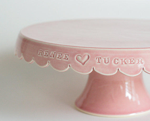 personalized cake stands