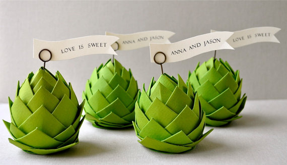 artichoke place cards