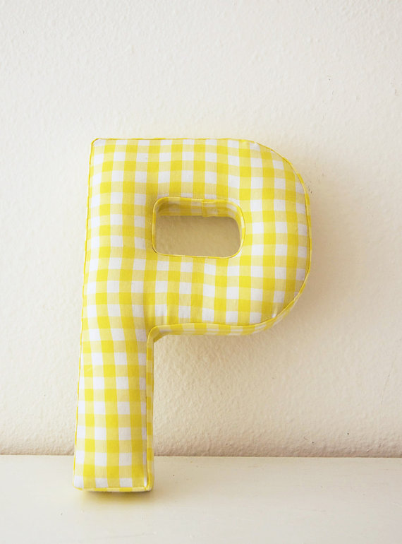 fabric monogram letters