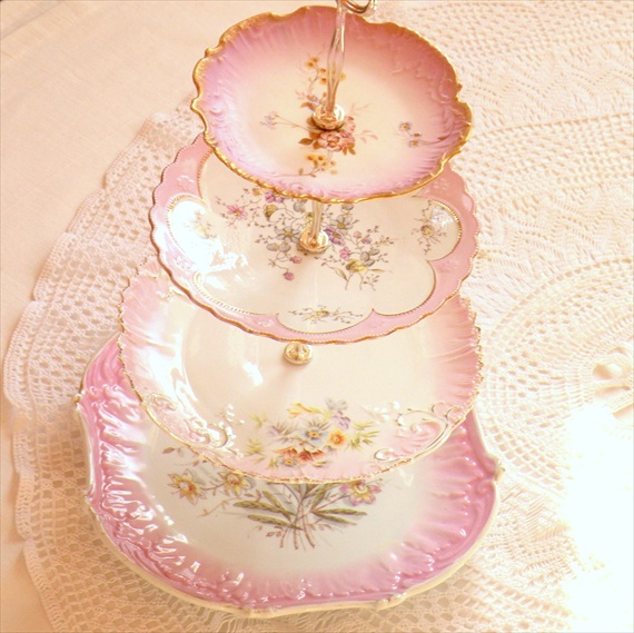 vintage wedding cake stands