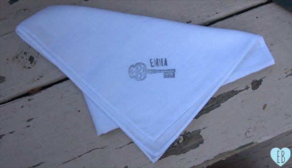 diy wedding hankie